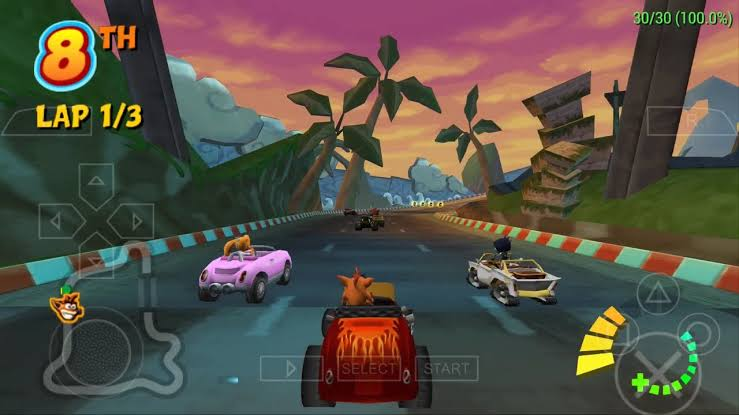Download Crash Tag Team Racing ISO File PSP Game