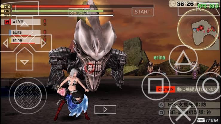 Download Gods Eater Burst ISO File PSP Game
