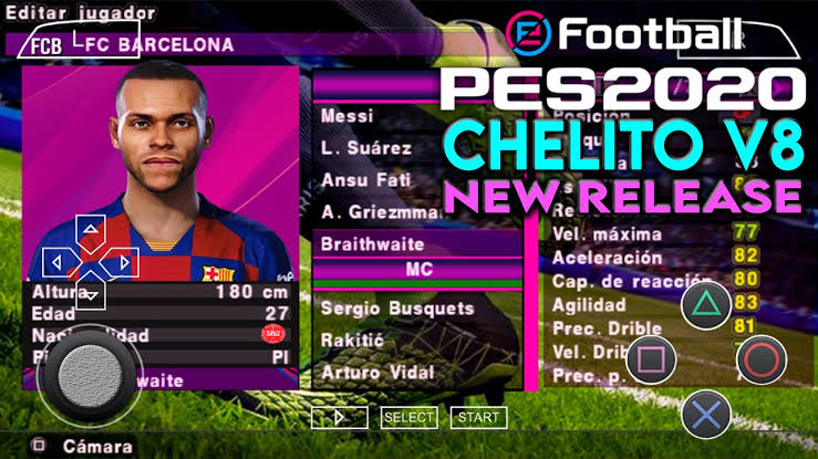PES 2020 ISO Chelito V8 Full Winter Transfer PSP Android