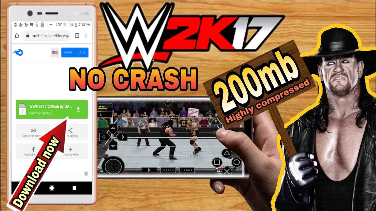 WWE 2K17 ISO for PPSSPP Android 200MB Highly Compressed